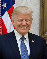 Official portrait of United States President Donald J. Trump released by the White House in Washington, DC on Tuesday, October 31, 2017.<br />
