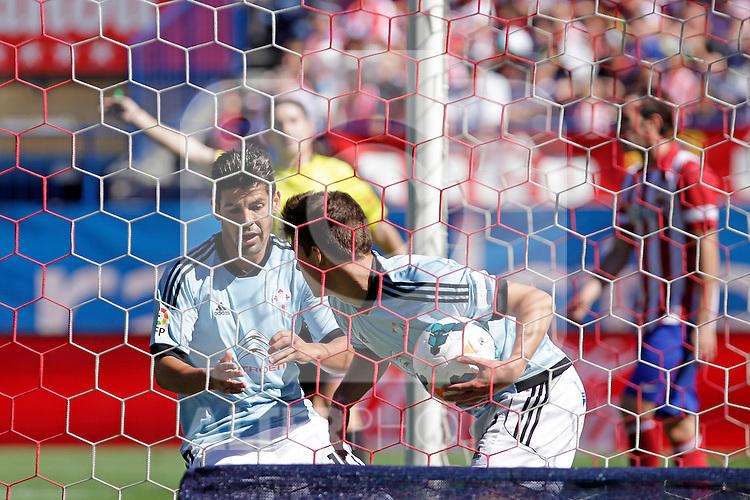 Celta de Vigo´s players celbrate a goal during La Liga 2013/14 match. October 06, 2013. (ALTERPHOTOS/Victor Blanco)