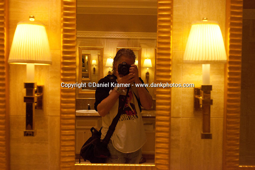 Self portrait in The Mirage Hotel and Casino Bathroom in Las Vegas in 2013.