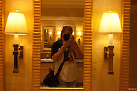 Self portrait in The Mirage Hotel and Casino Bathroom in Las Vegas in 2013.