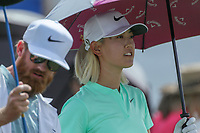 Michelle Wie walks off the 1st tee box during Round 3 at the ANA Inspiration, Mission Hills Country Club, Rancho Mirage, Calafornia, USA. {03/31/2018}.<br />