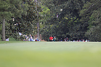 Tiger Woods (USA) on the 18th fairway during the final round at the The Masters , Augusta National, Augusta, Georgia, USA. 14/04/2019.<br /> Picture Fran Caffrey / Golffile.ie<br /> <br /> All photo usage must carry mandatory copyright credit (© Golffile | Fran Caffrey)