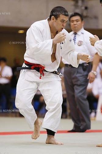 Wolf Aaron, September 14, 2014 - Judo : All Japan Junior Judo Championships Men's -100kg Final at Saitama Prefectural Budokan, Saitama, Japan. (Photo by Yusuke Nakanishi/AFLO SPORT) [1090]