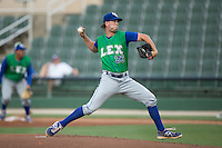 Lexington Legends starting pitcher Niklas Stephenson (26) in action against the Kannapolis Intimidators at CMC-Northeast Stadium on May 26, 2015 in Kannapolis, North Carolina.  The Intimidators defeated the Legends 4-1.  (Brian Westerholt/Four Seam Images)