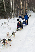 Bill Cotter w/Iditarider on Trail 2005 Iditarod Ceremonial Start near Campbell Airstrip Alaska SC