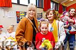 Ellie May Breen, Ann and Breda Riordan attending the Gaeil Scoil Mhic Easmainn Food fair in the school on Sunday.
