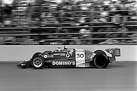 INDIANAPOLIS, IN - MAY 31: Al Unser, Jr., drives the Lola T86/00 HU07/Cosworth during the Indianapolis 500 USAC Indy Car race at the Indianapolis Motor Speedway in Indianapolis, Indiana, on May 31, 1986.