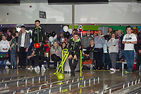 Pictured: Tom Carroll of Swansea City during the Swansea player and fans bowling evening at Tenpin Swansea, Swansea, Wales, UK. Wednesday 22 January 2020