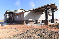 NWA Democrat-Gazette/FLIP PUTTHOFF<br />Lowell Fire Station No. 2, seen Wednesday Feb. 7 2018, on Bellview Road north of Monroe Avenue. The station should be completed in mid March and put in service late May or early June, said Mike Morris, Lowell fire chief.