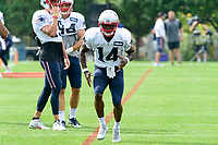 August 2, 2017: New England Patriots wide receiver Brandon Cooks (14) runs a route at the New England Patriots training camp held at Gillette Stadium, in Foxborough, Massachusetts. Eric Canha/CSM