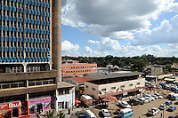 ZAMBIA copperbelt town Kitwe , downtown/ SAMBIA Kitwe im copperbelt, Zentrum