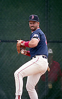 Boston Red Sox Mike Greenwell (39) during spring training circa 1992 at Chain of Lakes Park in Winter Haven, Florida.  (MJA/Four Seam Images)