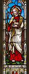 Church of Saint Peter, Blaxhall, Suffolk, England, UK stained glass Good Shepherd c 1867 Lavers, Barraud and Westlake