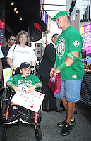 June 20, 2012 John Cena WWE Superstar meets Jonny Littman at Good Morning America in New York City for Make-A-Wish Foundation which he has granted 300 so far. © RW/MediaPunch Inc. NORTEPHOTO<br />
