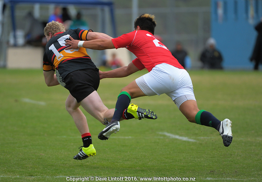 Action from the Swindale Shield Wellington club rugby union match between Marist St Pat's and Paremata-Plimmerton at Evan's Bay Park, Wellington, New Zealand on Friday, 25 March 2016. Photo: Dave Lintott / lintottphoto.co.nz