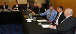 David Longmuir chatting to Jim Ballantyne with Steve Brown and Jim Leishman