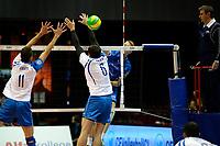 GRONINGEN - Volleybal, Abiant Lycurgus - Luboteni, voorronde Champions League, seizoen 2017-2018, 26-10-2017, smash Lycurgus speler Stijn van Schie