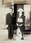 wedding with man in western style clothing Japan early 1930s