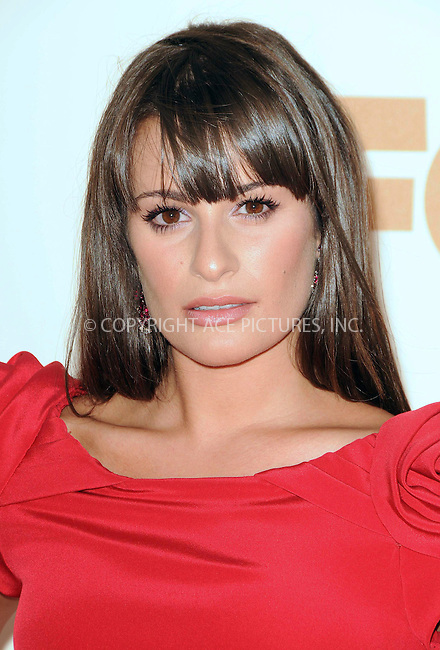 WWW.ACEPIXS.COM . . . . .  ....September 18 2011, LA....Lea Michele arriving at the 63rd Annual Primetime Emmy Awards held at Nokia Theatre L.A. LIVE on September 18, 2011 in Los Angeles, California....Please byline: PETER WEST - ACE PICTURES.... *** ***..Ace Pictures, Inc:  ..Philip Vaughan (212) 243-8787 or (646) 679 0430..e-mail: info@acepixs.com..web: http://www.acepixs.com