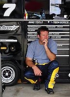May 1, 2009; Richmond, VA, USA; NASCAR Sprint Cup Series driver Robby Gordon during practice for the Russ Friedman 400 at the Richmond International Raceway. Mandatory Credit: Mark J. Rebilas-