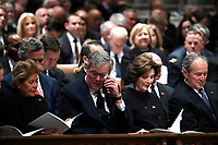 Columba Bush, former Florida Gov. Jeb Bush, Laura Bush and former President George W. Bush attend the State Funeral for former President George H.W. Bush at the Washington National Cathedral, Wednesday, Dec. 5, 2018, in Washington.<br /> Credit: Alex Brandon / Pool via CNP / MediaPunch