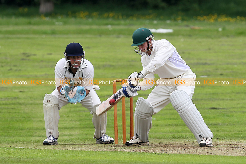 G Bull in batting action for Westcliff - Harold Wood CC vs Westcliff CC - Essex Cricket League at Harold Wood Park - 19/05/12 - MANDATORY CREDIT: Gavin Ellis/TGSPHOTO - Self billing applies where appropriate - 0845 094 6026 - contact@tgsphoto.co.uk - NO UNPAID USE.