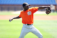 June 11th 2008:  Luis Noel of the Delmarva Shorebirds, Class-A affiliate of the Baltimore Orioles, during a game at Classic Park in Eastlake, OH.  Photo by:  Mike Janes/Four Seam Images