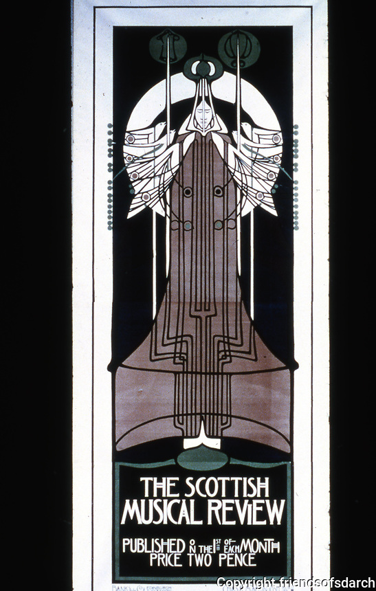Mackintosh Collection: Hunterian Art Gallery, U. of Glasgow. Musical Review Poster 1896.