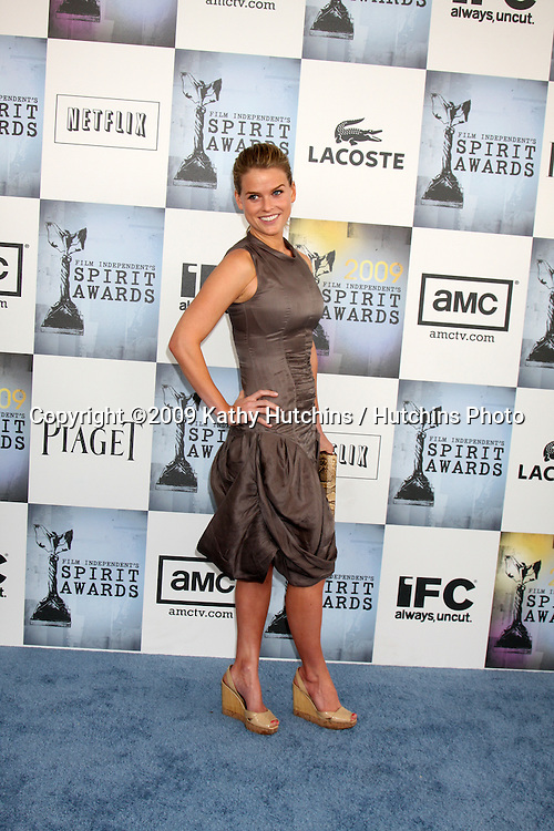 Alice Eve  arriving  at the  Film Indpendent's  24th Annual Spirit Awards on the beach in Santa Monica, CA  on.February 21, 2009.©2009 Kathy Hutchins / Hutchins Photo...                .