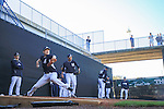 Masahiro Tanaka, Hiroki Kuroda (Yankees),<br /> FEBRUARY 18, 2014 - MLB : Masahiro Tanaka and Hiroki Kuroda of the New York Yankees throw in the bullpen during the team's spring training baseball camp at George M. Steinbrenner Field in Tampa, Florida, United States. The left is manager Joe Girardi.<br /> (Photo by Thomas Anderson/AFLO) (JAPANESE NEWSPAPER OUT)
