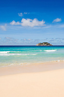 Seychelles, Island Mahe, Grand Anse: beach and Island aux Vaches, Nature Reserve<br />