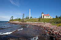 Copper Harbor Lighthouse and Lake Superior shore lighthouses in the Upper Peninsula of Michigan