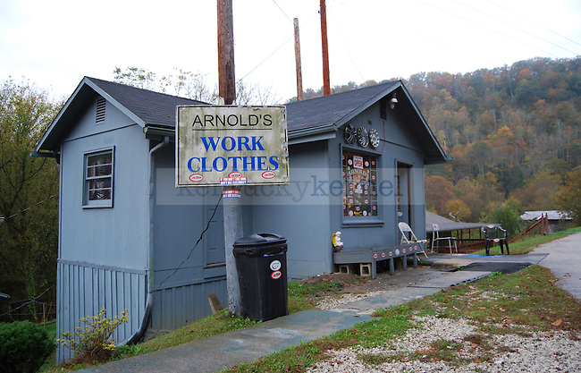 Arnold's Work Clothes on Highway 15 near Quicksand, KY on October 13th, 2011. Photo by Lauryn Morris.