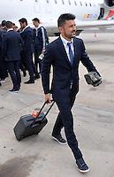 FUSSBALL  CHAMPIONS LEAGUE  FINALE  SAISON 2013/2014  23.05.2013 Real Madrid - Atletico Madrid Ankunft Atletico Madrid am Flughafen in Lissabon; David Villa