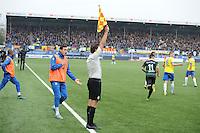 VOETBAL: LEEUWARDEN: 08-11-2015, SC Cambuur - FC Groningen, uitslag 2-2, buitenspeldoelpunt SC Cambuur, ©foto Martin de Jong