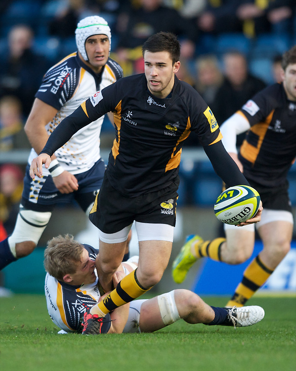 during the LV= Cup second round match between London Wasps and Worcester Warriors at Adams Park on Sunday 18th November 2012 (Photo by Rob Munro)