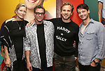 "Anna Holbrook, Lou Liberatore, Ryan Spahn and Leland Wheeler attends then Broadway Family invite to The Final Dress Rehearsal Of Harvey Fierstein's ""Torch Song"" on October 8, 2018 at the Hayes Theatre in New York City."