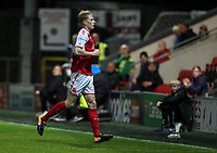 Fleetwood Town's Harvey Rodgers leaves the pitch after being sent off for a second bookable offence <br /> <br /> Photographer Andrew Kearns/CameraSport<br /> <br /> The Carabao Cup First Round - Fleetwood Town v Carlisle United Kingdom - Tuesday 8th August 2017 - Highbury Stadium - Fleetwood<br />  <br /> World Copyright &copy; 2017 CameraSport. All rights reserved. 43 Linden Ave. Countesthorpe. Leicester. England. LE8 5PG - Tel: +44 (0) 116 277 4147 - admin@camerasport.com - www.camerasport.com