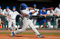 Seton Hall Pirates designated hitter Alex Falconi #47 at bat during a game against the Michigan Wolverines at the Big Ten/Big East Challenge at Al Lang Stadium on February 18, 2012 in St. Petersburg, Florida.  (Mike Janes/Four Seam Images)