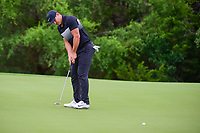 Brooks Koepka (USA) watches his birdie putt during round 1 of the Valero Texas Open, AT&amp;T Oaks Course, TPC San Antonio, San Antonio, Texas, USA. 4/20/2017.<br /> Picture: Golffile | Ken Murray<br /> <br /> <br /> All photo usage must carry mandatory copyright credit (&copy; Golffile | Ken Murray)