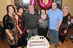 Mary Briscoe celebrating her 70th birthday in The Thatch with husband Ned, son Martin and daughters Lisa, Jackie and Paula. Photo: Colin Bell/pressphotos.ie