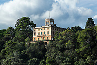 Coastal hillside home overlooking the Ligurian Sea.