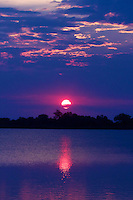 Sunrise in the Okavango Delta, Botswana