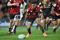 1st August 2020, Hamilton, New Zealand;  Sevu Reece.<br /> Chiefs versus Crusaders, Super Rugby Aotearoa, FMG Waikato Stadium, Hamilton, New Zealand.
