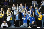 SIOUX FALLS, SD - MARCH 9:  Briar Cliff fans celebrate a 3-point field goal during their game against St. Thomas at the 2018 NAIA DII Men's Basketball Championship at the Sanford Pentagon in Sioux Falls. (Photo by Dick Carlson/Inertia)