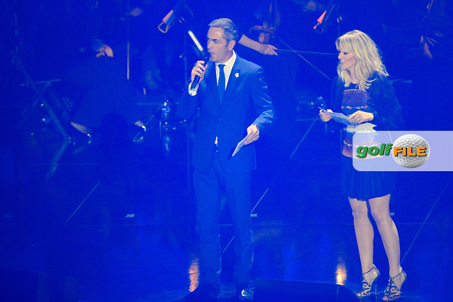 James Nesbitt is the compare for the night during the Ryder Cup Gala Concert 2014 at SSE Hydro on Wednesday 24th September 2014.<br /> Picture:  Thos Caffrey / www.golffile.ie