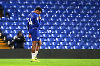 Juan Castillo of Chelsea shows his disappointment at the final whistle as he trudges off towards the dressing room during Chelsea Under-21 vs Peterborough United, Checkatrade Trophy Football at Stamford Bridge on 9th January 2019