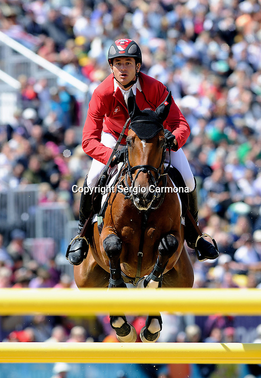 Olympic Games 2012; Equestrian - Venue: Greenwich Park. Steve Guerdat (SUI).Horse: Nino des Buissonnets.