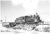 3/4 engineer's-side view of D&amp;RGW #361 at Gunnison, CO ash pit.<br /> D&amp;RGW  Gunnison, CO