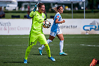 Kansas City, MO - Wednesday August 16, 2017: Ashlyn Harris during a regular season National Women's Soccer League (NWSL) match between FC Kansas City and the Orlando Pride at Children's Mercy Victory Field.